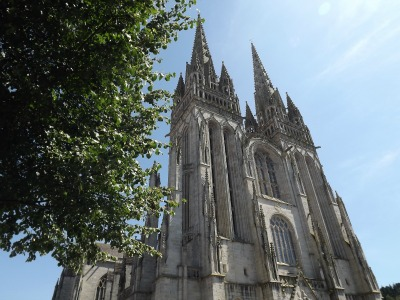 exploring Brittany Quimper cathedral