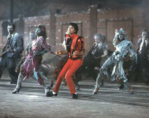 Zombie dance scene from Michael Jackson's 1982 music video, Thriller. Photo Credit: MJJ Productions