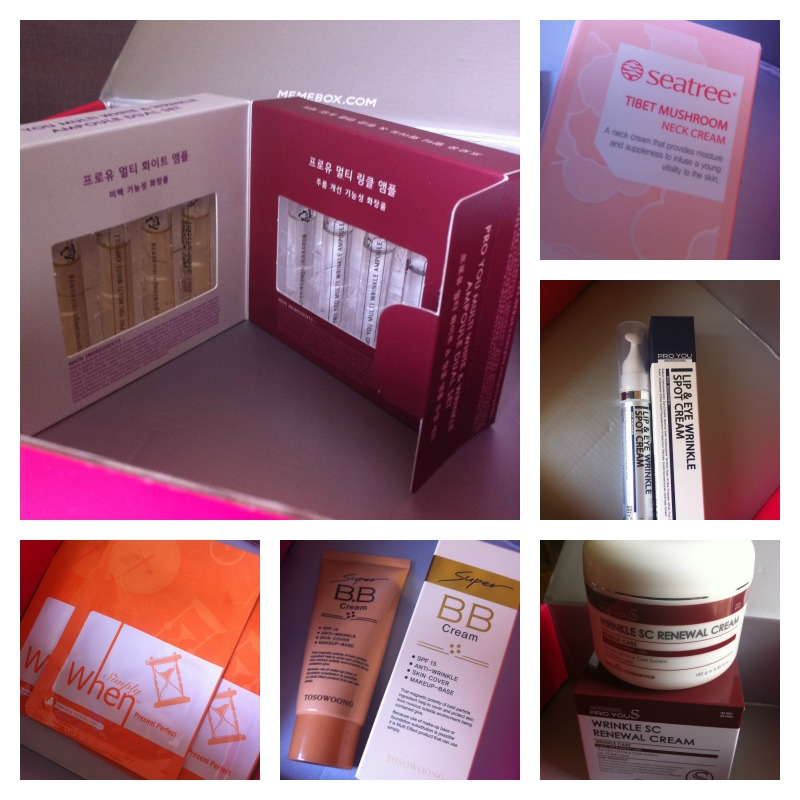 memebox anti aging contents