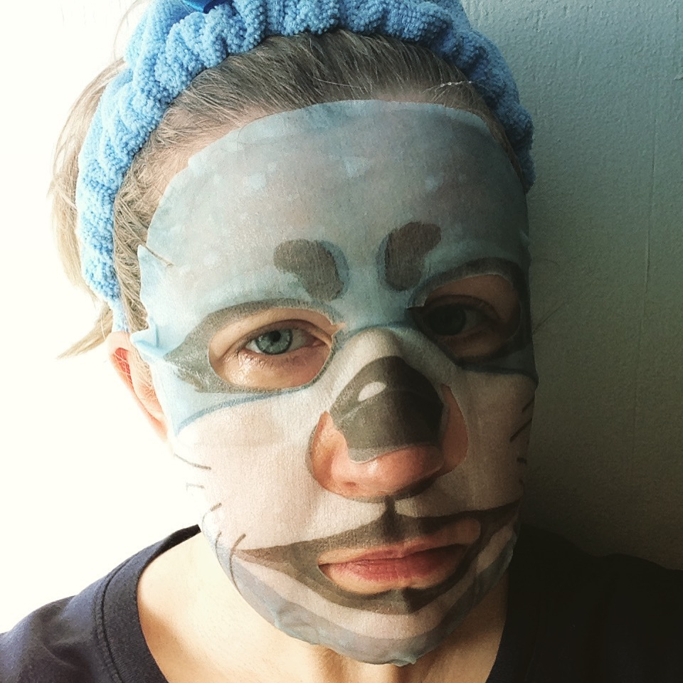 animal sheet masks snp otter