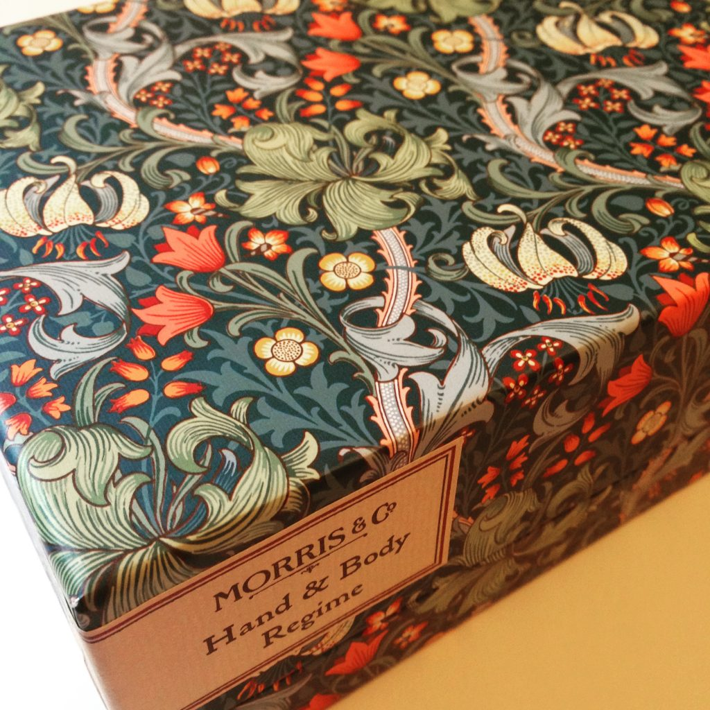 William Morris skincare box