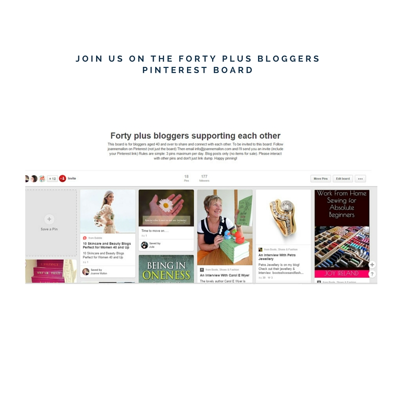 Forty plus bloggers Pinterest board