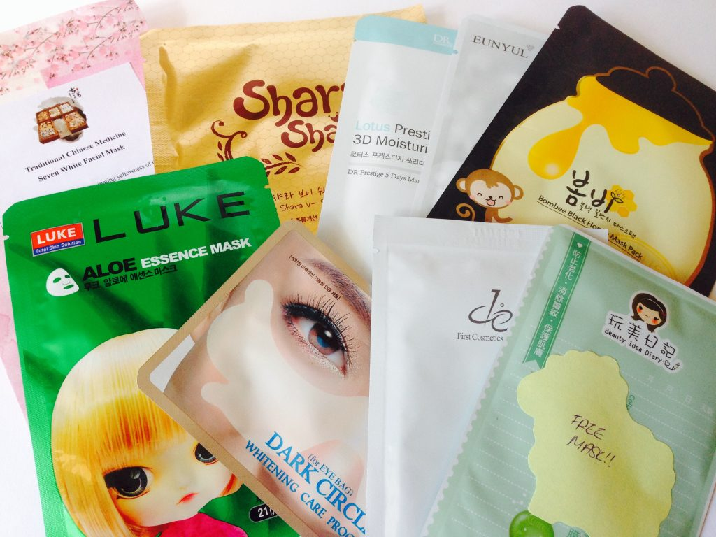 MaskGenie sheet mask pouch contents