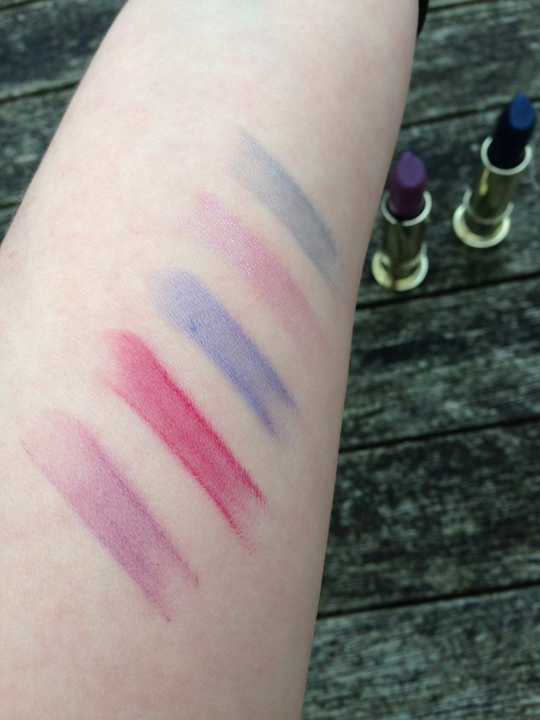 Urban Decay blue lipsticks