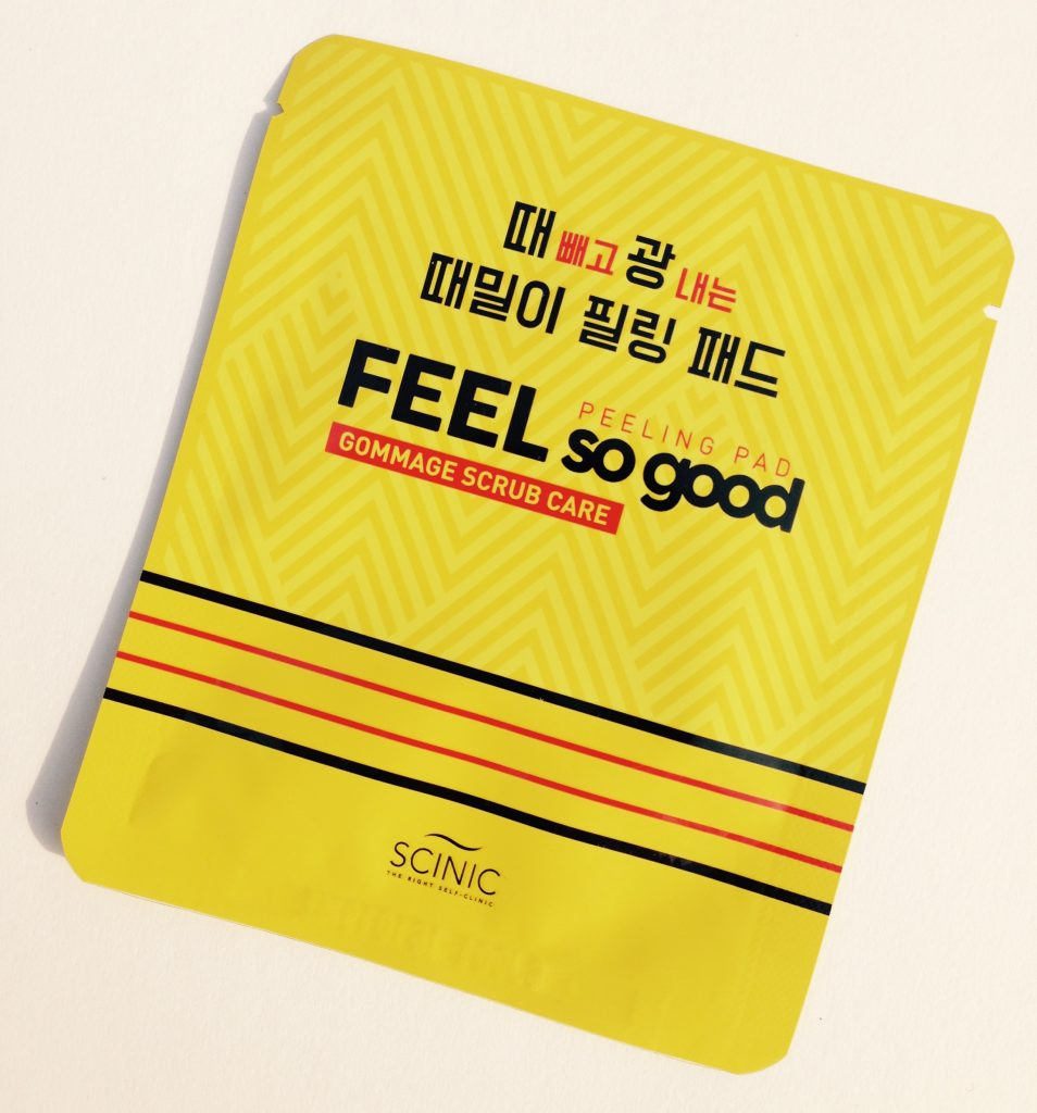 Korean beauty Scinic Feel So Good peeling pad
