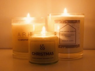 Christmas scented candles