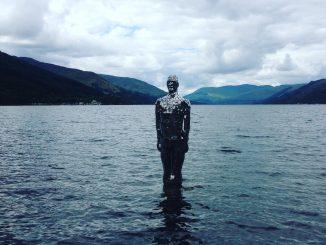 statue in Loch Earn Perthshire