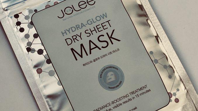 Beauty giveaway - Jolee dry sheet mask