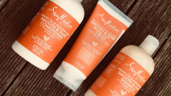 Shea Moisture shampoo, conditioner & blow out creme